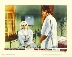 The Nun's Story (1959 / Warner Brothers) lobby card #8 (KlaatuCarpenter) Tags: audreyhepburn charleslamb lobbycard peterfinch fredzinnemann