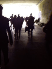 túnel (tigran kalevian) Tags: city people urban color art luz silhouette america photography colombia photographer gente perfil bogotá south tunnel sombra perspectiva silueta residential marcha túnel sudamérica miseria suramérica anonimous anonimato