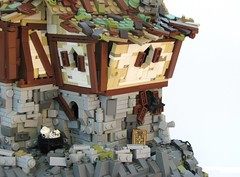 The Haunted Inn (W. Navarre) Tags: door roof brown rock inn lego cottage tudor ccc