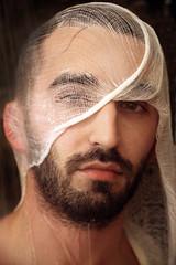 Ben (R. O. Flinn) Tags: portrait man male wet water face beard head