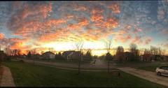 Good morning Ohio #sunrise #ColumbusOhio #centralohiophoto (Howard TJ) Tags: pink blue columbus ohio sky orange clouds sunrise square central panoramic squareformat stitched fairfield pickerington iphoneography instagramapp uploaded:by=instagram