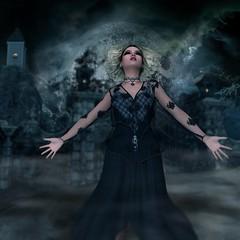 Witchery (Bel's World) Tags: beauty dark witch goth evil scare 3dmodeling daz blackmagic