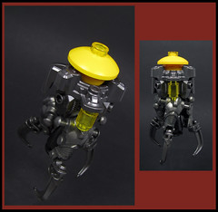 Qwertian Survey Ship (Karf Oohlu) Tags: lego moc microscale microspacetopia qwertian surveyship silly scifi fantasy spaceship