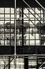 Scaffold and Reflection (PAJ880) Tags: scaffold reflection boston ma mono bw architecture reflectons