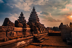 Shore Temple - Mahabalipuram (Swasti Verma) Tags: pondicherry beach india travel vacation shoretemple mahabalipuram incredibleindia architecture heritage sunrise unesco
