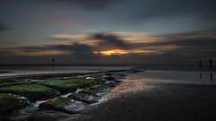 breakwater (Ha-Jue) Tags: norderney buhne breakwater sunset sonnenuntergang nordsee sigma24105 sonya99