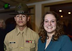 Alexis with drill instructor (Jon_Marshall) Tags: alexis drillinstructor di marines marine bootcamp graduation marinecorpsrecruitdepot sandiego mcrd