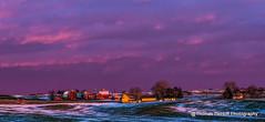 Iowa Winter Sunset (Thomas DeHoff) Tags: iowa farmstead golden light sunset red barns colorful winter sony a580