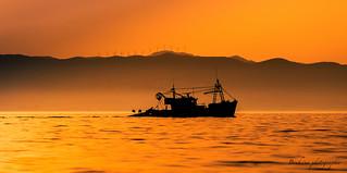 Le bateau silhouette.