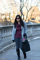 cowl neck sweater, grey jeans, pea coat, matine scalloped tote-4.jpg (LyddieGal) Tags: matine swap black boots denim fashion gap gloves grey jcrew outerwear outfit peacoat purple rayban scalloped style sweater thrifted wardrobe weekendstyle winter