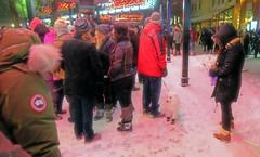 One Last New Year's Photo (Sherlock77 (James)) Tags: calgary newyearseve streetphotography people crowd man woman dog snow