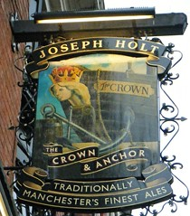 Manchester - The Crown and Anchor Public House (rossendale2016) Tags: joseph holt crown anchor public house manchester lancashire city centre beer wines spirits pub regional traditional old fashioned iconic victorian seating inside outside meals dining bar pumps hand crisps optics