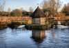 fishing hut & eel traps, at the Bunny, Hampshire (neilalderney123) Tags: ©2017neilhoward stockbridge river hampshire rivertest water winchester thebunny hut house fish