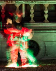 Ghostly goings on (kimbenson45) Tags: nationaltrust waddesdonmanor christmas xmas building colorful colors colourful colours ghostlike ghostly green horned light motion movement outdoors people playing red appicoftheweek
