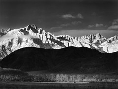 Ansel Adams (Peer Into The Past) Tags: winter snow nature peerintothepast 1944 blackandwhitephotography history anseladams
