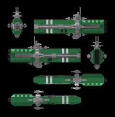 Midi Scale Saratoga Ortho (Rphilo004) Tags: lego moc spaceship spacecraft starship saratoga destroyer orthographic ortho studio render