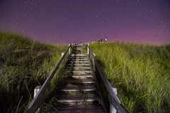Stairway to .... (Golden_Arrow) Tags: night sky stars light pinery park ontario stairway dunes