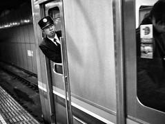 Subway - Tokyo (-Faisal Aljunied-) Tags: blackandwhite traindriver japan tokyo metro subway ricohgr faisalaljunied