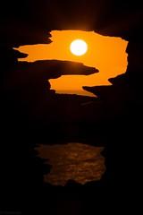Question mark? (MooziX) Tags: autumn beautiful horizonoverwater horizon warmth warm tranquility ocean sea outdoors nopeople nikon contrast sun yellow orange black nature silhouette sunset
