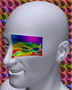 No-14 (Matthew Grandy) Tags: 3d desire white face man creep eye rainbow color colorful teeth pattern