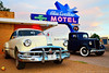 Road Tripping Route 66: Blue Swallow, Tucumcari, NM (DTA_6543) (masinka) Tags: tucumcari newmexico nm route 66 motherroad road trip tripping travel photography classic vintage timeless colors bold blueswallow motel neon roadside sky sunset car automobile