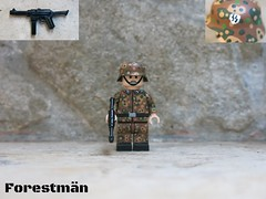 Waffen SS soldier LEGO WWII (Forestmän) Tags: lego ww2 wwii solidier german dot44 dot 44 ss waffen painted custom