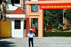 Back to base (Roving I) Tags: sailors uniforms bases navy danang vietnam gateways entrances anchors