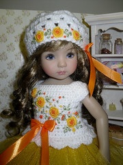 Dianna Effner Little Darling - dress and hat (littlegiftcove) Tags: embroidery blouse dianna effner doll crochet toy kids
