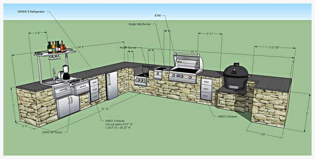 Design for Custom Fire Magic Outdoor Kitchen, Ringgold, Ga.