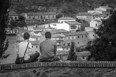 Lingering:Lovers (BazM:Photog.......900k views!) Tags: bw panorama monochrome blackwhite spain view lovers espana toledo vista lingering twolovers herhim bazmatthews