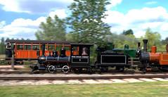 Synchronicity (Alastair Wood) Tags: motion blur train bokeh railway narrowgauge stafoldbarn