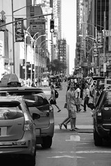 Traffic in New York (Digital_Third_Eye) Tags: city nyc people urban bw ny newyork black cars architecture canon landscape blackwhite flickr noir traffic eastcoast 2015 650d