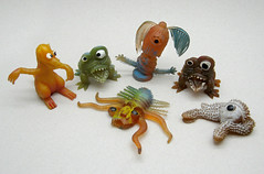 Vintage Rubber Uglies (The Moog Image Dump) Tags: monster vintage toy rubber creepy gross ugly figure horror jelly creature crawly uglies jigglers frights jiggler