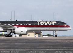 Private (Donald Trump) Boeing 757-2J4(ER) (N757AF) (Michael Davis Photography) Tags: airplane photography nashville aviation flight jet arrival donaldtrump trump bna boeing757 b757 privatejet 757200 kbna businessjet nashvilleairport n757af