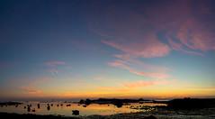 crépuscule d'argenton (fubu.flemm) Tags: panorama mer france bretagne bateaux paysage soir océan maréebasse argenton soleilcouchant