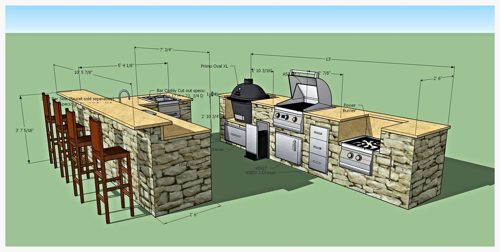 Design for Custom Fire Magic Outdoor Kitchen, Chattanooga, TN