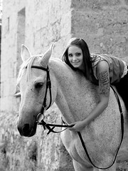 Magda&Sabi (Kraqueboom) Tags: horse girl lady trust frau dame unicorn pferd mdchen whitehorse einhorn schimmel gelding wallach