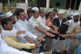 Muslim United Front Andhra Pradesh Peace Oath on Babri Masjid Judgement day