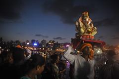 Mumbai celebrates Ganapati festival (E R) Tags: india evening religion maharashtra mumbai religiousart arabiansea hindugod indianfestival ganapatifestival ganeshafestival ganeshfestival girgaum elephantheadgod hinducelebration mumbaibeach mumbaistreet ganapatiidol cityofmumbai girgaumchoupati