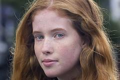 Franziska (Onno Veerman) Tags: red portrait people cute girl beautiful beauty smile look female hair ginger mujer eyes pr