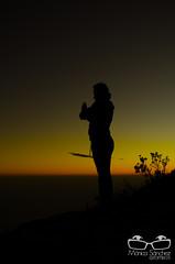 Yoga silhouette (monicalexandra576) Tags: sky woman mountain silhouette sunrise mujer amanecer cielo silueta montaa warairarepano
