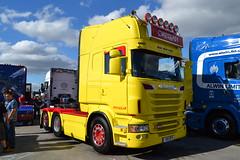 Scania R560 'Gregan' reg V10 OPY (erfmike51) Tags: lorry artic gregan scaniar560 gatheringofthegriffin2015