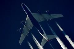 British Airways Airbus A 380 G-XLEH (stephenjones6) Tags: nikon aircraft jet airbus a380 british ba airways vapour vapourtrails skywatcher d3200 gxleh