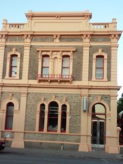 Clare. The old ANZ Bank designed by architect Daniel Garlick 1877. Opened as English Scottish and Australian Bank. (denisbin) Tags: clare institute town hallbankanzbank hotel clarehotel garlick danielgarlick