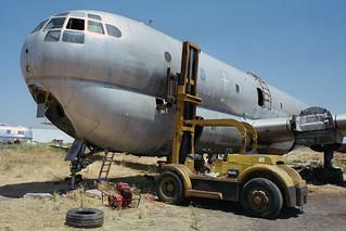 Removing KC-97L cockpit