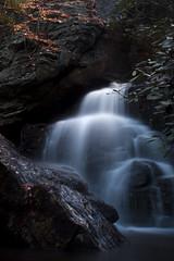 autumn silk (Sharkshock) Tags: park color colour beautiful rock dark waterfall nikon long exposure state north silk greensboro mysterious carolina hanging lonely salem nikkor winston silky piccy
