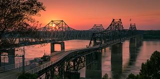 Sunset in Vicksburg, Mississippi