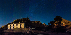 Casa de los Forestales - Ulea (Vctor Sez) Tags: longexposure light sky night canon dark way stars photography noche photo milk amazing spain long expo panoramic ufo via murcia galaxy panoramica estrellas nocturna universe fotografa universo lactea 60d milkway ulea 1018mm