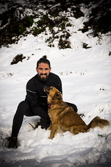 Amore <3 (sbaroncelli) Tags: portrait dog pets snow love smile animals cane nikon couple neve sorriso ritratto amore animali happydays coppia d600 tuttonero totalblack