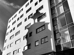 Shadow (Mac McCreery) Tags: shadow blackandwhite brick architecture hotel birminghamuk adagio digbeth sigma1770dcmacro digbethpolicestation pentaxk5iis